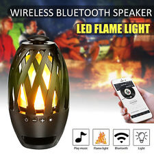 LED Flamme Lamp Licht Wireless Bluetooth Stereo Lautsprecher Outdoor Wasserdicht