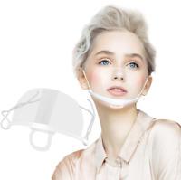Mund Nasen Schutz Plastik Visier Gesichtsschutz Spuckschutz Schutzvisier