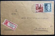 1942 Kalwaria GEneral Government Poland Germany Registered Cover To Krakow