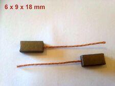 6V-12V-24V coche motores eléctricos de Carbono Cepillos de cobre 6x9x18 mm calentadores AC etc.
