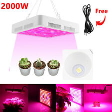 2000W LED Grow Light Hydroponic Full Spectrum Indoor Flower Plant Lamp Panel EU