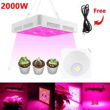 2000W LED Luz De Crecimiento Hidropónica Lámpara de espectro completo Planta Flor De Interior panel de la UE