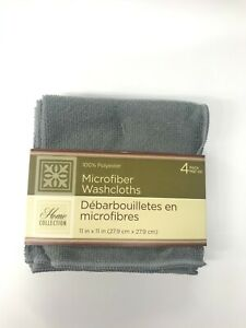 """4 PACK MIRCOFIBER WASH CLOTHS 