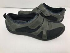 PRIVO BY CLARKS Women 6.5 M Black/ Greenish  Strap Comfort Active Slip On Shoe