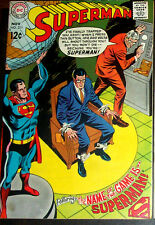 SUPERMAN #211 (VF/NM) Clark Kent Trapped! High Grade Issue! 1968 Vintage DC