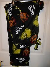 Dr Suess The Grinch Black Fleece Sleep Lounge Pajama PJ Pants Mens Small NWT
