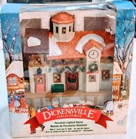 Vintage 1995 Dickensville Collectables Christmas Village Lighted Train Station
