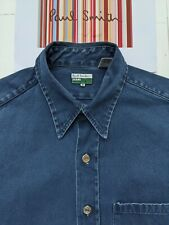 PAUL SMITH Men's SHIRT XL - Pit to Pit 23 inches -Heavy Denim / Canvas Overshirt