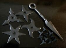 Japan Ninja Weapons Set Shuriken, Kunai, Makibishi Rubber NARUTO Realistic! NEW