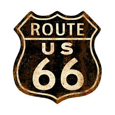 """Black Rusty Rusted Route 66 Vintage Style Retro Steel Street Metal Sign 15""""x15"""""""