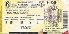 STANDARD - RSC ANDERLECHT - 09/05/2007 - Ticket Coupe de Belgique