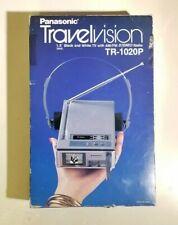 "Vintage 1982 Panasonic Travelvision Tr-1020P 1.5"" Tv/Am-Fm Stereo Receiver"