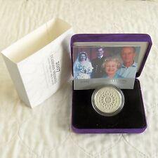 2007 boda de diamante £ 5 Piedfort PRUEBA DE PLATA-Completo