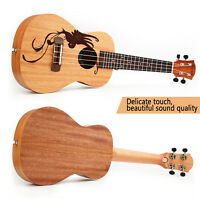 """Ukulele Soprano Mahogany Lucky Bird Guitar Ukelele Uke 18 Frets 4 String 21""""/23"""""""