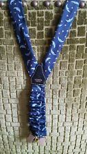 Vintage Hermes Mens Braces In blue  Moon and stars logo / bretelle Hermes