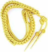 US ARMY Military GOLD AIGUILLETTE BRITISH OFFICER SHOULDER CORD