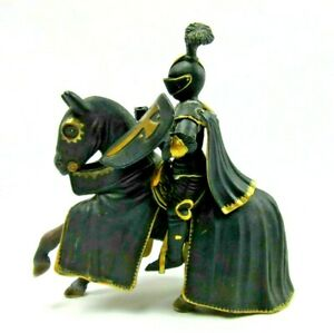 Schleich Ritter Black Tournament Mounted Knight Rider Horse Figure 70032 2003