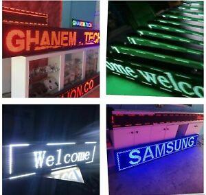 Auß/Innen LED-Laufschrift WiFi Werbetafel programmierbar einfarbig Ein/Doppel-se