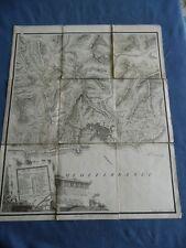 INCISIONE-PINCHETTI-CARTA MILITARE GENOVA E SUOI CONTORNI-BETTALLI-MILANO 1830