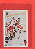 1971-72  Phil Myre RC/Wilkins  Pro Star NHLPA Postcard nrmnt-mint