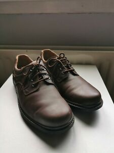 Clarks Active Air Brown Leather Lace Up Shoes Size UK12 H. GORE-TEX