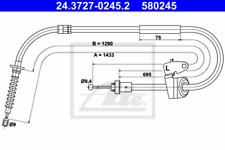 Seilzug, Feststellbremse für Bremsanlage Hinterachse ATE 24.3727-0245.2