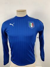 PUMA Italy FIGC 2016 Home Long Sleeve Soccer Jersey Size Small