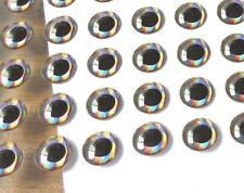 """3d eyes 3mm 7/64"""" (for tying minnows, baitfish & streamers) 42 stick on eyes"""