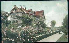 Postcard Pasadena Ca Rose Hedge, Residence Mrs. Childs