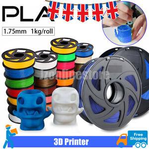 3D Printer Filament PLA - 1.75mm -1KG(350Meters) - Various Colours Available UK