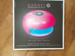 Bright pink UV LED nail dryer by Gadget Co for gel nails & regular polish. New