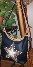 **MONTANA SILVERSMITHS LEATHER** HAIR-ON Star Cowhide Bag w/Sterling Grommets!