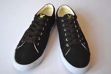 NEW LYLE & SCOTT Pumps Deck Shoes Flats Black Canvas - White UK Sz 8 - EU 42