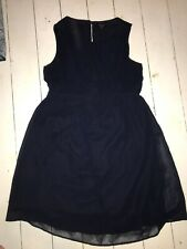 Womens Navy Chiffon Maternity Dress Size 14 By NEW LOOK