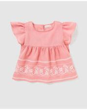 T-shirts, hauts et chemises roses avec des motifs Brodé pour fille de 2 à 16 ans en 100% coton