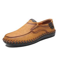 Loafers for Men Driving Shoes Loafers Casual Leather Stitched Slip On Shoes Plus