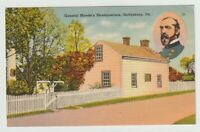 Unused Postcard General Meades Headquarters Gettysburg Pennsylvania PA Civil War