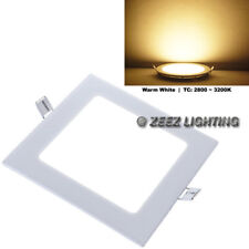 """12W 6""""Square Warm White LED Dimmable Recessed Ceiling Panel Down Light Bulb Lamp"""