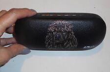 Irish Water Spaniel dog Hand Painted Hard Eyeglass Case Vegan