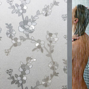 Privacy Window Glass Film Flower Sticker Static Frosted Bathroom Home Decor 3D