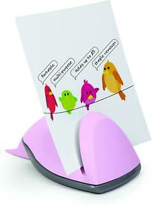 Document Paper Card Holder and Staple Remover Offise Home Candy Pink