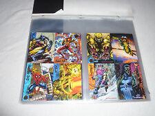 VINTAGE MARVEL PROMO UNCUT CARDS BATMAN METAL TEKNO FLAIR SPIDERMAN VENOM ANNUAL