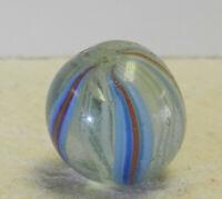 #12871m Vintage German Handmade Latticino Swirl Marble .69 Inches