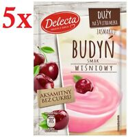 Delecta Buydn Smak Wisniowy Sweet Cherry Pudding Mix 64g (5-Pack) Free Shipping!