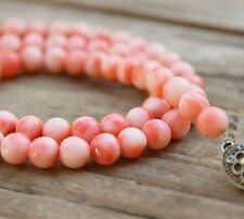 Vintage Necklace Coral Beads Jewellery Sterling Silver Clasp Antique Edwardian