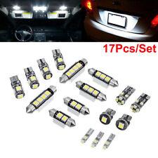 17PCS Error Free Premium White Interior LED Light Package Bulbs Lamp Accessories