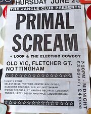 More details for primal scream 1987 gig poster nottingham old vic c86 bobby gillespie loop 42x30