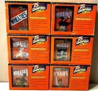 Vintage 24k GOLD Signature 75th Anniversary Wheaties Mini Boxes Ruth Ali Woods