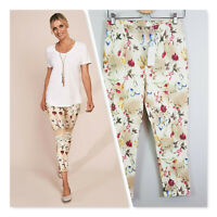 [ BLUE ILLUSION ] Womens Fleurs Printed Seamed 7/8th Pants NEW | Size M or AU 12