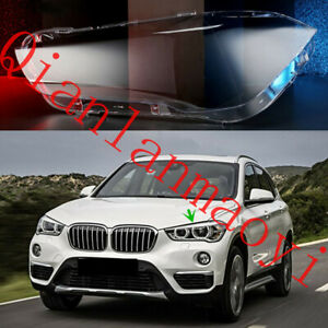 Left Side Clean Headlight Cover With Glue For BMW F49 X1 2016-2019